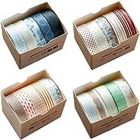 Washi Tape Set Ruban Adhésif Papier Décoratif Masking Tape pour Scrapbooking Bricolage Travaux Manuels et Article de…