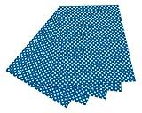 folia 5903 Fotokarton mit Punkten (50 x 70 cm, 10 Bogen) weiß/blau