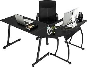 Computertisch Schreibtisch Große Eckschreibtisch Bürotisch PC Tisch Mit Und  Tastaturauszug, Für Hausaufgaben Und Büroarbeit 148x112x74