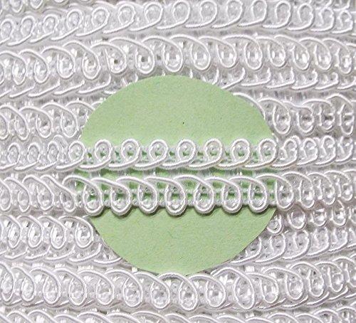 Posamentenborte weiß 12 mm