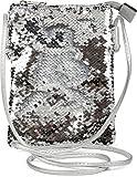 styleBREAKER Mini Bag Umhängetasche mit Wende-Pailletten, Schultertasche, Handtasche, Tasche, Damen 02012240, Farbe:Silber