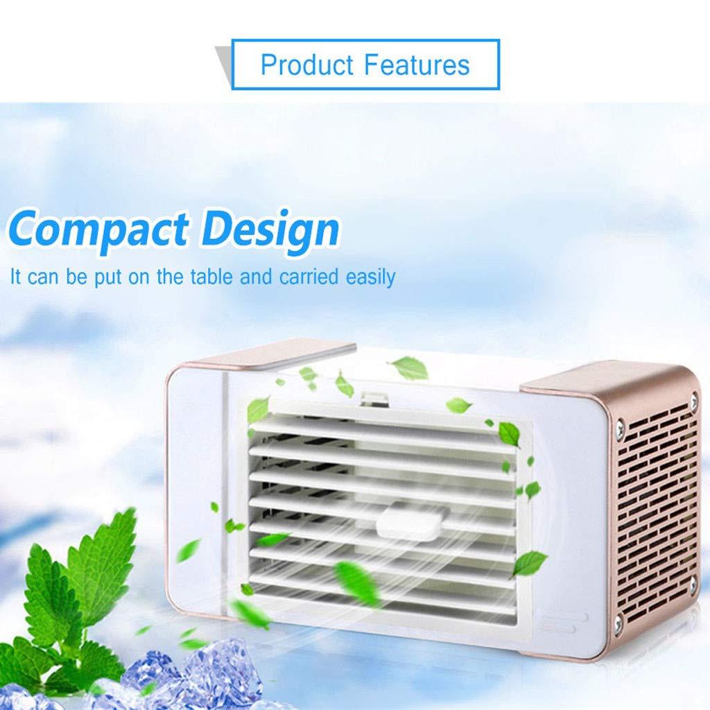 Mobile Klimaanlage leise Mini Luftkühler tragbare 3 in 1 Klein Ventilator USB-Licht Air Cooler ohne stromsparend…