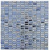 Mosaik Fliese ECO Recycling GLAS Rechteck ECO schwarz metallic 3D für WAND BAD WC DUSCHE KÜCHE FLIESENSPIEGEL THEKENVERKLEIDUNG BADEWANNENVERKLEIDUNG Mosaikmatte Mosaikplatte