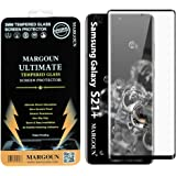MARGOUN for Samsung Galaxy S21 plus 5G Screen Protector Tempered Glass (6.7 inch) 2021, 9H Full Glue Curved Black Side