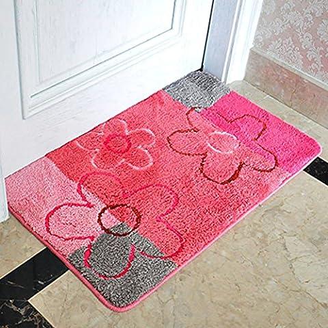 stuoie assorbenti igienici acqua/Ottomani/tappetini da bagno antiscivolo/Tappeti camera da letto-F (Avorio In Pelle Ottomana)