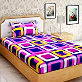 """AEROHAVEN Cotton Comfort 144 TC Cotton Single Bedsheet(60"""" X 90"""") With 1 Pillow Cover(16"""" X 26"""")"""