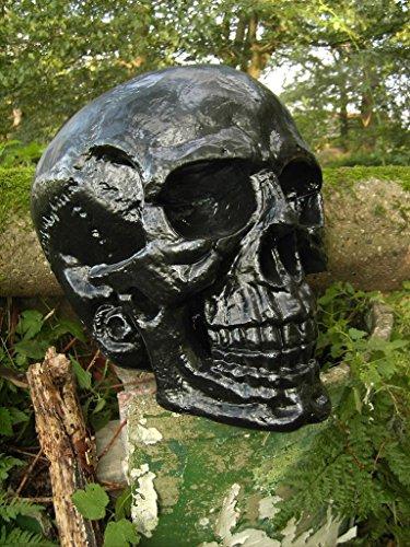 XXL Deko Totenkopf Skelett Gothic Fantasy Horror Halloween Dekoration schwarz666