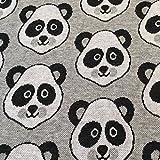 Hamburger Liebe Panda Jacquard Jersey Bio-Stoff Baumwolle