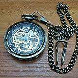 Clásico nostálgico Retro mecánico Reloj de Bolsillo Antiguo General Moda Hueco Redondo Reloj de Bolsillo