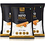 NutroActive Keto Dosa Mix, Gluten Free, 2 gm Net Carb Per Dosa- 350 g (Pack of 3)