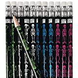 12 x Halloween Bleistifte Skelett Gerippe Pirat Piratenparty Radiergummi Grusel Horror Party Mitgebsel Halloweenparty Gespenst K
