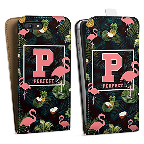Apple iPhone X Silikon Hülle Case Schutzhülle Flamingos Perfekt dschungel Downflip Tasche weiß