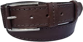ESPERANTO Cintura artigianale vero cuoio uomo e donna 4 cm con fibbia semi ricoperta