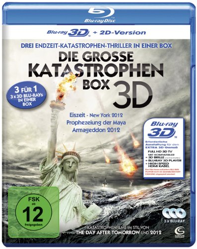Die große Katastrophenbox 3D - Boxset mit 3 3D Blu-rays: Eiszeit -...