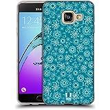 Head Case Designs Vert Prussien Motifs Floraux Étui Coque en Gel molle pour Samsung Galaxy A3 (2016)