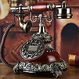 Telefono di lusso europeo di moda di lusso di fascia alta, salotto americano retrò, nuova macchina a disco rotante casa, campanello singolo elettrone rosso