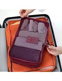 TGLOE 5Bolsas de colores calcetines de malla ropa Bolso Gran Capacidad Viaje Essential Sundry bolsas