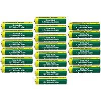 BuyaBattery AAA 1.2v 600mAh NiMH Rechargeable Solar Light Batteries for Outdoor Garden Solar Lights (20 Pack)