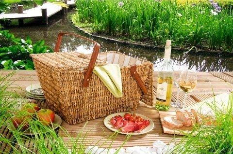 Picknickkorb, honigbraun