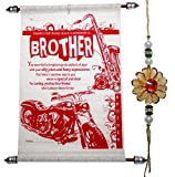 #8: Rakhi For Brother With Brother Scroll Greeting Card