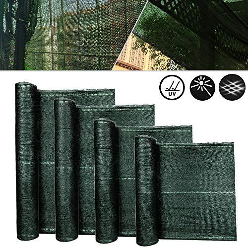 Froadp Balkon Sichtschutz Für Balkon Windschutz Staubschutz Balkonumspannung mit Ösen und Kordel Grün 1,5x25m
