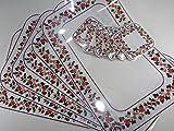 Tray 12er Set Platzset und Untersetzer 44 x 29 cm Hagebutte Rose Platzmatte Küche Deko GODE C15