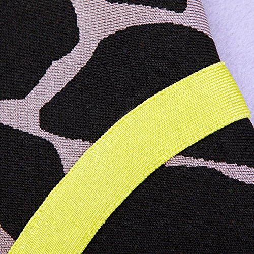 HL Bandage 2 Piece à manches courtes imprimé léopard Robe gainante Imprimé léopard