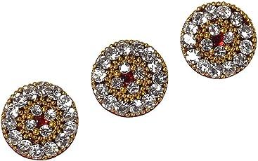 Sunaina Love Collection Maroon Big Size Round Bindis for Women [LC072]