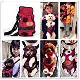 #6: Generic Red, S : 2016 New Pet Dog Carry Canvas Front Travel Backpack Breathable Pet Bags Legs Out Shoulder Pet Puppy Carrier S M L