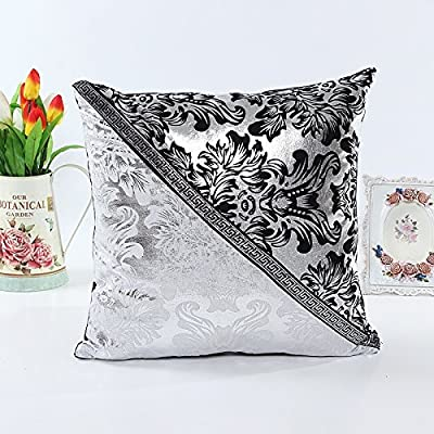"European Black White Throw Pillow Case Cushion Cover Sofa Decor 18"" - inexpensive UK light shop."