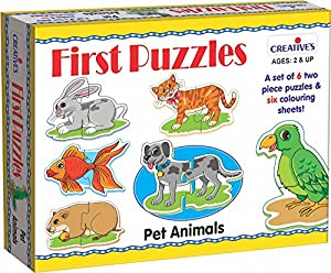 Creative Educational 0795Mascota Animales Primer Puzzle
