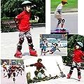 G-i-Mall kinder Protektoren Set - Kind's Knieschützer Ellenbogenschützer Handgelenkschoner Schutzset für Roller Skaten Skateboard Radfahren (Schwarz)