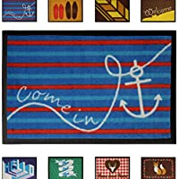 Jago Zerbino tappetino zerbino da ingresso casa di plastica 40 x 60 cm motivo Come In set da 1
