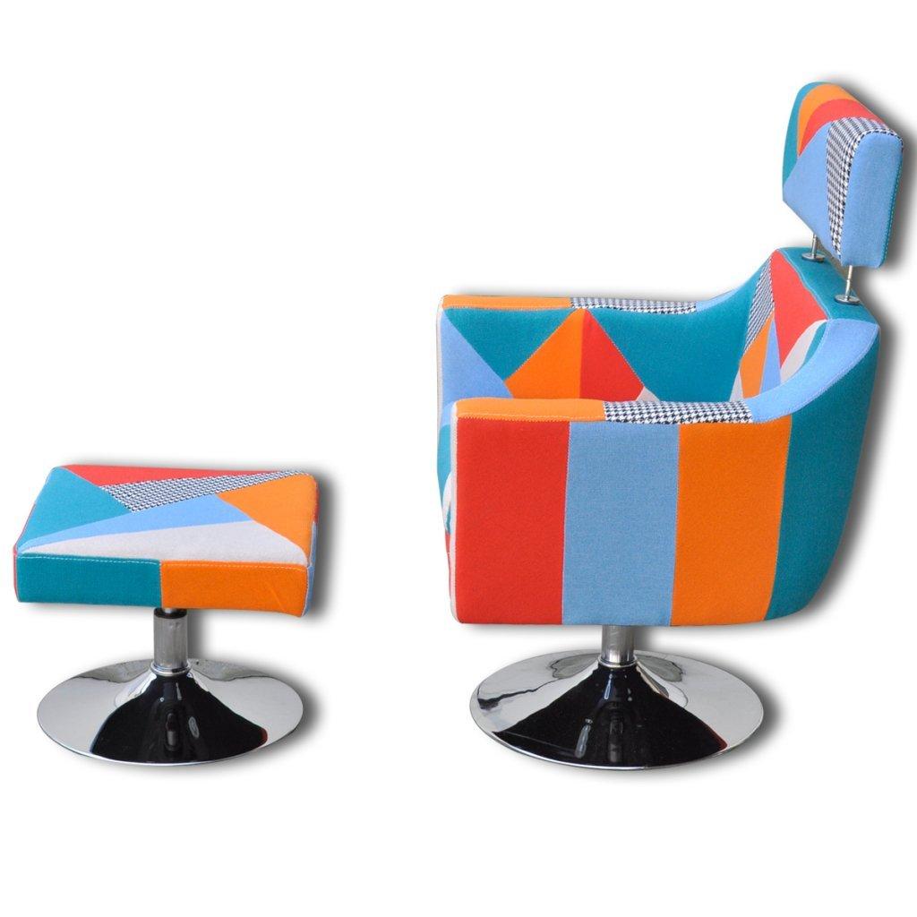 Anself Sessel Polstersessel Armsessel TV sessel Wohnzimmersessel Loungesessel mit Fußhocker 3 Farbe Optional 1