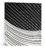kunst für alle Leinwandbild: Paco Palazon Straight and curved - hochwertiger Druck, Leinwand auf Keilrahmen, Bild fertig zum Aufhängen, 55x55 cm