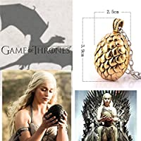 acquistare qualsiasi 2 e ottenere 1 gratis. Game Of Thrones Spilla a mano al Re Tywin Lannister Got Drago Steampunk singolo Ice Fire Lapel e metallo Stark Argento Replica unico gioielli argento o oro doppio vintage Hot Fashion Trend, Khaleesi Gold Dragon Egg Pendant, Egg: 3.9cm x 2.5cm Chain : 52cm+5cm extender - Fossil Womens Metallo