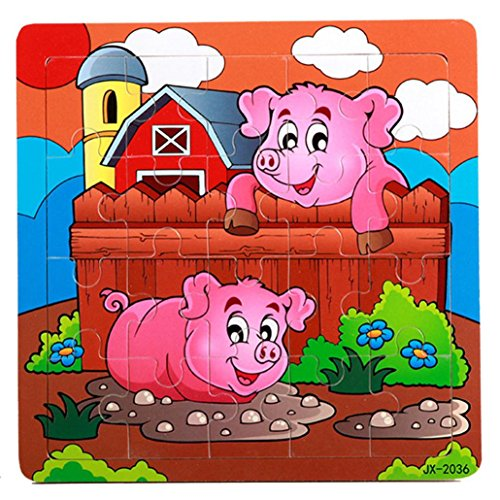 ongra Holzpuzzles Steckpuzzle -