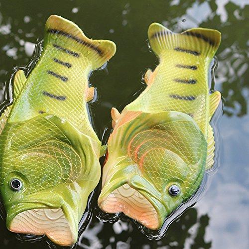 Oasap Herren Damen Besondere Fisch Strand Slippers Flip Flops Anti-Rutsch Hausschuhe - 4