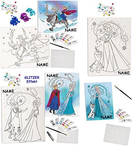 3 tlg. XL - Bastelset zum Malen - 3 Stück verschiedene Leinwand / Canvas Bilder - ' Disney die...