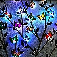 Led Butterfly Light String, Bee Light String, Luminous Butterfly Light, Solar Garden Light Outdoor, Led Optical Fiber Butterfly Light, Solar Stake Light Multi-Color Changing LED Garden Lights
