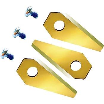 Titan. 12Lame de rechange extrahart pour Bosch Indego carbure de titane revêtement double face–Réversible