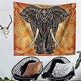 QEES Elefant Geheimnisvoll Stil Wandteppich aus leichtem Polyster Wandtuch Wandbehang als Wand Dekoration Tischdecke Strandtuch Schöne Wanddeko GT02-Mystic 6-S