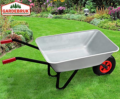 Deuba Monzana® Schubkarre 80L Bauschubkarre bis 200kg Gartenkarre | 200kg Belastbarkeit | verzinkter Stahlrohrrahmen - 6