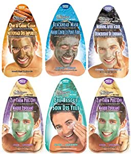 Montagne Jeunesse Man Maintenance Face and Eye Masque Sachets - Pack of 6