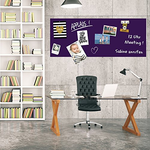 selbstklebende magnetische Tafelfolie Wandfolie Wandtafel Kreidetafel 250x100 violet - inkl.Kreide - Meterware Magnetfolie