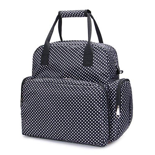 Samber Rucksack Windel Tasche Wasserdichte Baby Windel Tasche mit Verstellbarem Schultergurt Schwarz