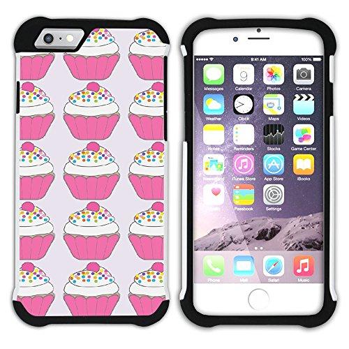 Graphic4You Cupcake Dessert Nachtisch Kuchen Hart + Weiche Kratzfeste Hülle Case Schale Tasche Schutzhülle für Apple iPhone 6 / 6S Design #16
