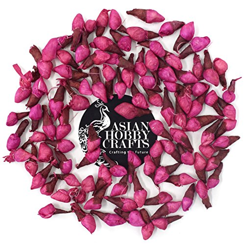 AsianHobbyCrafts Sola wood Artificial flower: pack of 100pcs (Pink)