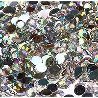 SUPGOD 2000 Flat Back Crystals, 3mm, 4mm, 5mm, Rhinestones, Gems, Diamantes, Wedding Invitation Decoration, 13 Colours (Pearlescent, 5mm)