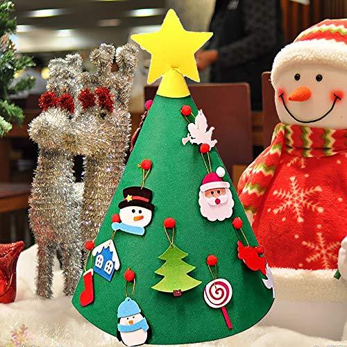 Mitlfuny Weihnachten Home TüR Dekoration 2019,3D DIY fühlte Sich Kleinkind Weihnachtsbaum Neujahr Kinder Geschenke Spielzeug Spielzeit Kinder Baum